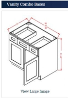 VANITY SINK DRAWER CABINET 42
