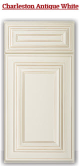 Charleston Antique White Cabinets