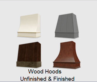 Wood Hoods Unfinished and Finished