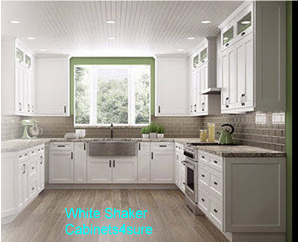 Shaker White Kitchen Cabinet Photo